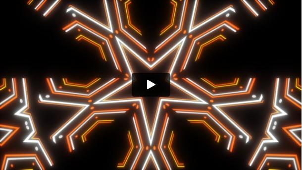 Star Neon Free VJ Clip