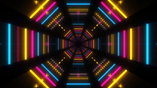 Neon Lights Tunnel