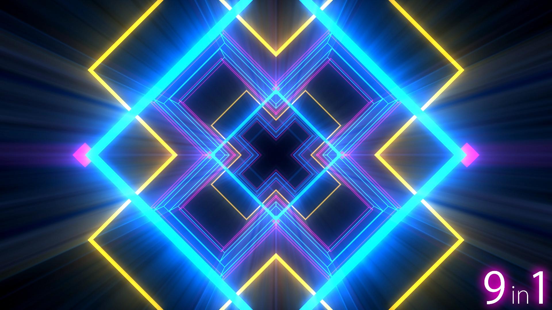 vj light lights tunnel